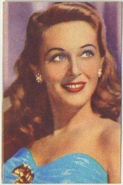 Ann Dvorak 1951 Artisti del Cinema Trading Card
