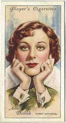 Ann Dvorak 1934 Players Tobacco Card