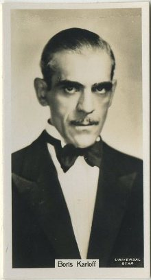 Boris Karloff 1934 John Sinclair Tobacco Card