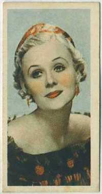 Gloria Stuart 1934 Godfrey Phillips Tobacco Card