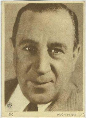 Hugh Herbert 1930s Aguila Trading Card