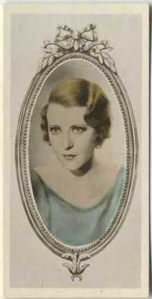 Ruth Chatterton 1934 Godfrey Phillips Tobacco Card