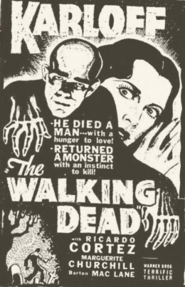 1936 Newspaper ad for The Walking Dead
