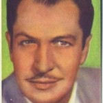 Vincent Price 1951 Artisti del Cinema Trading Card