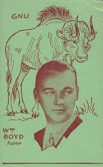 William Boyd Strip Card