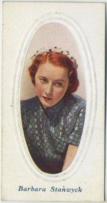 Barbara Stanwyck 1936 Godfrey Phillips Screen Stars
