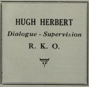 Hugh Herbert RKO Dialogue announcement