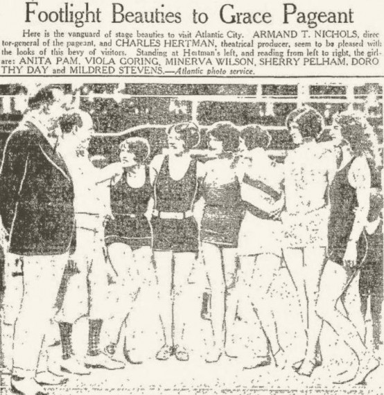 Anita Pam in 1927 Atlantic City Beauty Pageant
