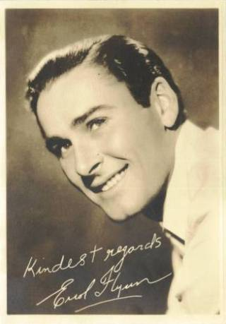 Errol Flynn 1930s 5x7 Fan Photo