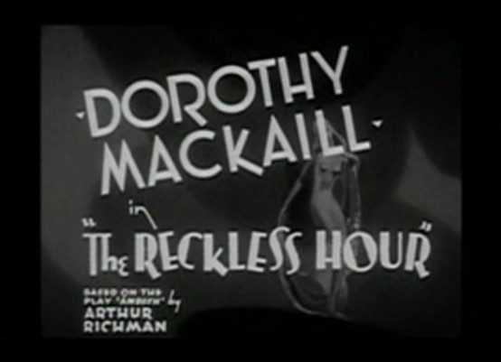 The Reckless Hour 1931