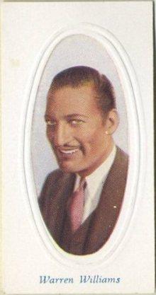 Warren William 1936 Godfrey Phillips Tobacco Card