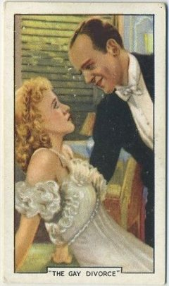 Ginger Rogers and Fred Astaire 1935 Gallaher Famous Film Scenes card