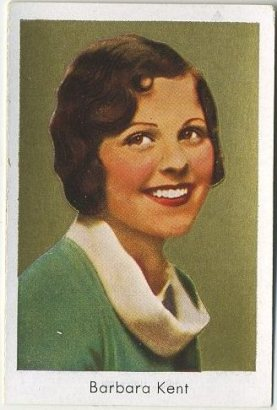 Barbara Kent 1930s Bulgaria Brand Tobacco Card from Germany
