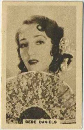 Bebe Daniels circa 1930 AJ Caley trading card
