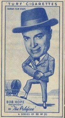 Bob Hope 1949 Carreras Turf Brand Tobacco Card
