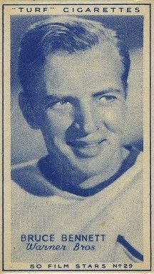 Bruce Bennett 1947 Carreras Turf Brand Tobacco Card