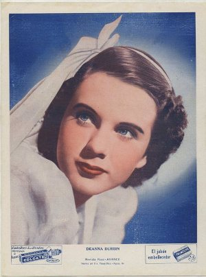 Deanna Durbin 1930s Colgate Premium Photo from Cuba
