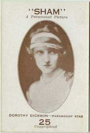 Dorothy Dickson 1921 Paramount Sales Game Card
