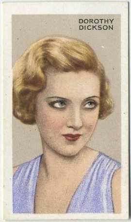 Dorothy Dickson 1935 Gallaher Stars of Screen and Stage Tobacco Card