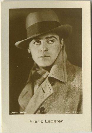 Francis Lederer 1930s Hansom Jasmatzi Tobacco Card from Germany