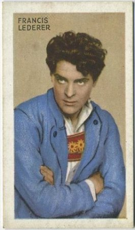 Francis Lederer 1934 Gallaher Champions of Screen and Stage Tobacco Card
