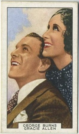 Burns and Allen 1935 Gallaher Film Partners Tobacco Card