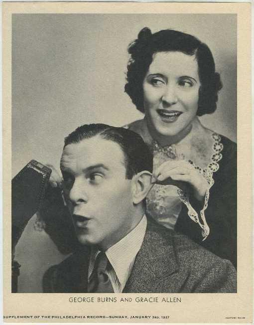 Burns and Allen 1937 M23 Philadelphia Record Supplement Photo