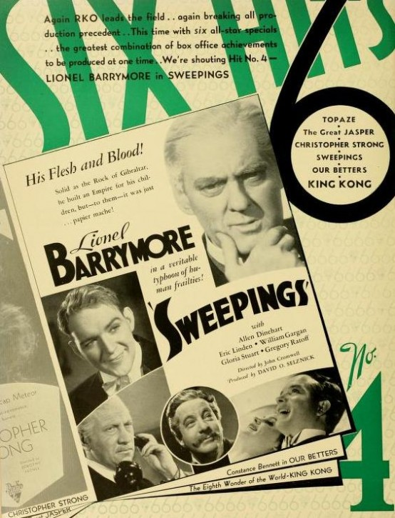 Sweepings 1933 trade ad