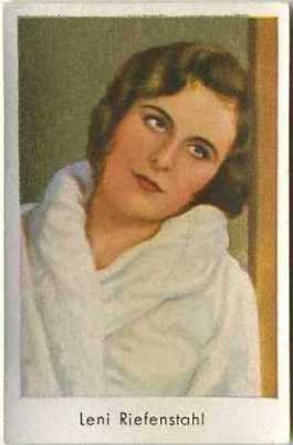 Leni Riefenstahl 1930s Salem Brand German Tobacco Card