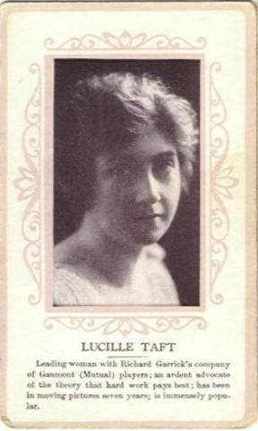 Lucille Taft circa 1915 Anonymous Issue Trading Card