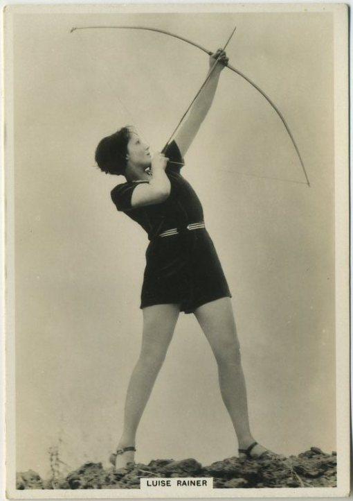 Luise Rainer 1930s BAT Modern Beauties Tobacco Card
