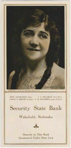 Mabel Trunnelle 1922 Ink Blotter