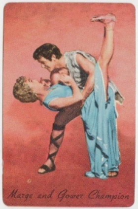Marge and Gower Champion 1955 General Mills trading card