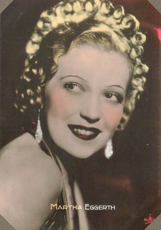 Martha Eggerth 1937 Massilia Color Toned Film Star Collector Card