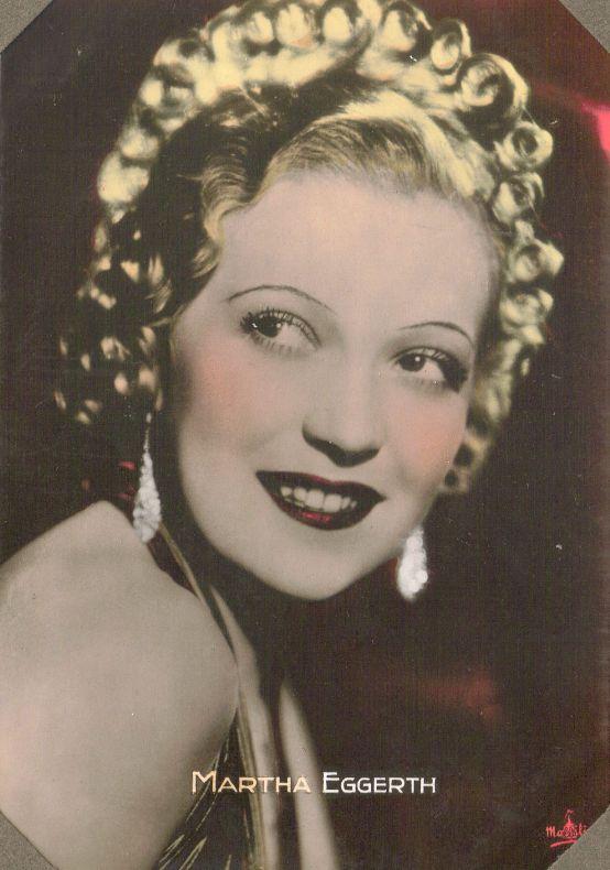 Martha Eggerth 1937 Massilia Color Toned Film Star Collector Card