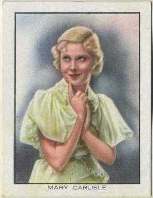 Mary Carlisle 1933 BAT World Famous Cinema Artistes Tobacco Card