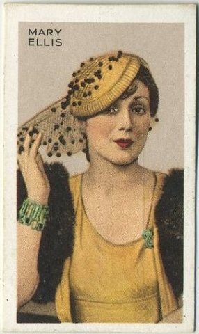 Mary Ellis 1935 Gallaher Stars of Screen and Stage Tobacco Card