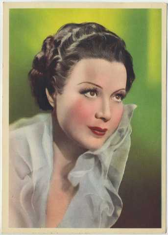 Mary Ellis 1937 Nestles Trading Card