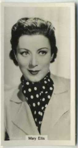 Mary Ellis 1939 RJ Lea Tobacco Card