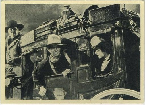 John Wayne in Stagecoach on 1940 Max Cinema Cavalcade Tobacco Card