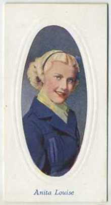 Anita Louise 1936 Godfrey Phillips Screen Stars Tobacco Card