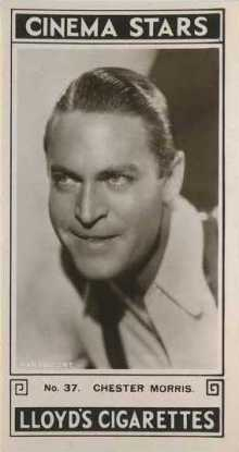 Chester Morris 1935 Lloyds Tobacco Card