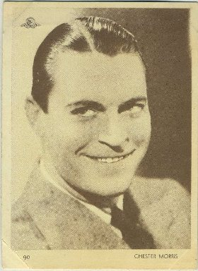 Chester Morris 1930s Aguila Trading Card