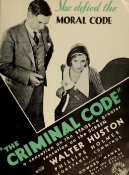 The Criminal Code trade ad