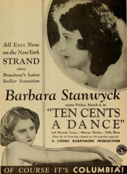 Ten Cents a Dance Trade Ad