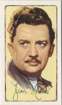 Jean Hersholt 1935 Gallaher Signed Portraits Tobacco Card
