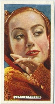 Joan Crawford 1935 Ardath Film Stage and Radio Stars Tobacco Card