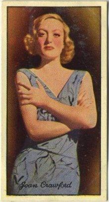 Joan Crawford 1935 Carreras Famous Film Stars Tobacco Card