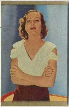Joan Crawford 1936 Danmarks Trading Card