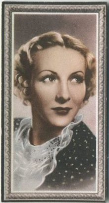 Karen Morley 1936 Godfrey Phillips Stars of the Screen Tobacco Card
